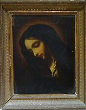 17th Century Italian Old Master Madonna Antique Oil Painting Devotional Portrait