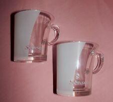 2 SENSEO Kaffee/Glastassen/Gläser*klar-weiss*Douwe Egberts