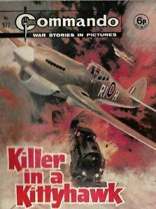 KILLER IN A KITTYHAWK,COMMANDO WAR STORIES IN PICTURES,NO.877,WAR COMIC,1974