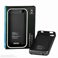 1900 mAh External Backup Power Battery Case Charger for iPhone 4 4S