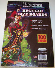 "1 Pack of 100 Ultra Pro 6 7/8"" Regular Comic Book Backer Backing Boards"