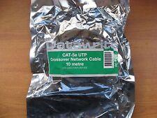 Nuovo 4xDatawrite Ethernet Crossover Cavi Patch 10M RJ45 CAT5e DW-U5EC10M1CM100E