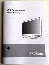 Manuale TV Grundig 55VLE8474BL - nuovo - ITA e Multilingua