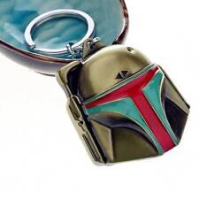 Bounty Hunter Boba Fett Mask Star Wars Bronze Metal Keychain Keyring