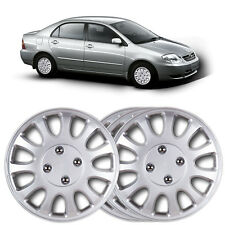 "4 X 14"" Plata Maciza Rueda Moldura tapa se ajusta Toyota Corolla, modelo año 2000"