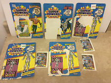 Lot of 5 Kenner Super Powers Card Backs and Comics only Batman, Aquaman, +
