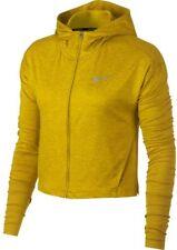 Nike Women's Large Element Full-Zip Running Hoodie Track Top Jacket Yellow