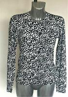 Jeanne Pierre Sizes S M L XL Leopard Animal Print Cardigan Black or Brown Bnwt