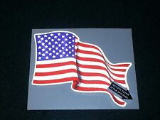 "American Flag Vinyl Decal, Custom made, 4.25"" x 3.5""  #EF05"