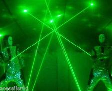 2 Lens 100mW handheld Fat Beam Green Laser Sword Lazer Man DJ Stage Disco Lights
