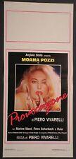 Locandina PROVOCAZIONE 1°ED.ITAL.1988 MOANA POZZI, MARINO MASE'