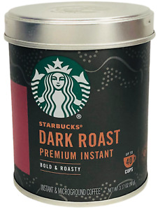 Starbucks Dark Roast Premium Instant & Microground Coffee 3.17 oz