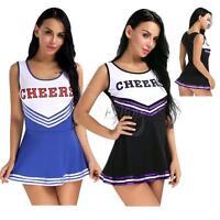 Sexy Ladies Cheerleader School Girls Fancy Dress Uniform Party Costume Outfit