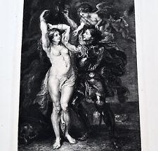 RUBENS Eau Forte PERSÉE Délivrant ANDROMÈDE MILIUS 1843 1894
