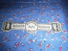 Old German Cigar Label Shape  Vollmilch Agfa Milchkuche