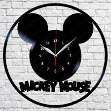 Mickey Mouse Vinyl Record Wall Clock Original Gift Handmade 12'' 170