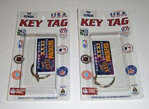 (2) 1997 Green Bay Packers Super Bowl XXXI key chain lot MIP Brett Favre Reggie
