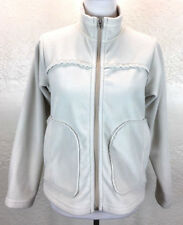 #S37 Patagonia Sz S Made In USA Synchilla Fleece Lined Ivory Full Zip Jacket