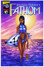 Fathom #0 Wizard US 1st printing 1998 Presque comme neuf Michael Turner Peter Steigerwald Aspen