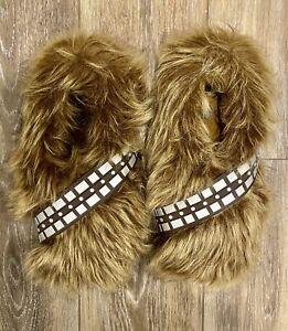 Star Wars Chewbacca Chewie Wookie Fur Slippers Lucas Film Size 8/9