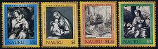 Nauru 510-3 MNH Christmas, Art, Etching, Rembrandt, Holy Family