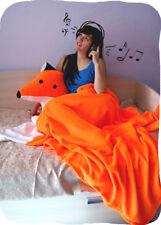 """Мягкий уютный комплект """"Лисья Нора"""": большая подушка Лиса и теплый плед."""