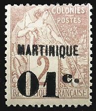 Martinique Stamp 1886-91 Scott # 9 MINT OG H
