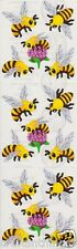 Sandylion FLOWERS & BEES Scrapbooking Stickers *FAST SHIPPING* G27 *3 Squares*