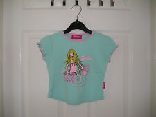 TOP GIRLS TURQUOISE /  GREEN BARBIE SHORT SLEEVE AGE 3 YEARS =
