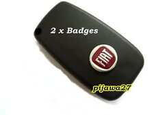 2 Badge Emblem Logo Sticker for Fiat Key Fob Remote 500 GRANDE PUNTO PANDA BRAVA