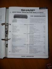 Manuel de service pour Sharp dx-3400hm Lecteur CD, original