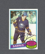 Richie Dunn signed Sabres 1980-81 Topps hockey card
