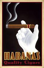 VINTAGE CIGAR ART PRINT - Habanas Quality Cigars by Steve Forney 22x34 Poster