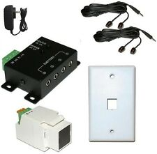 IR Repeater Remote Control Extender up to 4 components-works 300 ft from TV
