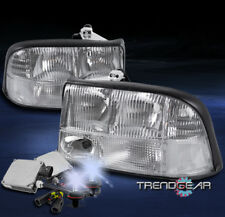 1998-2004 GMC SONOMA/2001 JIMMY CRYSTAL REPLACEMENT HEADLIGHT CHROME W/8000K HID