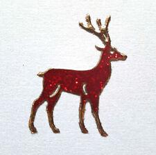 Stickerbogen, Weihnachten, Christmas, Rentiere, Glitzer, Rot, Nr. 7076