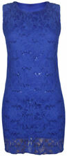 Blue Lace Dresses for Women with Sequins