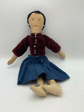 Vintage Antique Primitive Navajo Railroad Doll Folk Art Cloth Hand Drawn Face