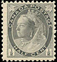 1898 Mint NH Canada F Scott #74 1/2c Queen Victoria Numeral Issue Stamp