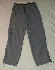 Womens Ladies *ZUMBA* Fitness Grey Convertible Nylon Pants Sz Medium Workout GUC