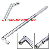 Universal Chrome Car Tubeless Tire Valve Stem Installation Tools Puller Tools