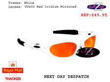 k9 RayZor Uv400 White Framed Red Mirrored Lens Ski Snowboard Sunglasses RRP£49