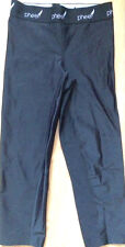 PHEEL Crop Pants Shiny Black size XS for Yoga Running Gym Spin Cycle