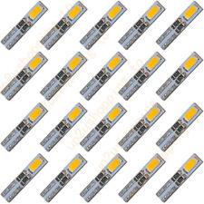 100 x T5 2-5630-SMD LED Warm White Dashboard Gauge Light Car Signal bulb 12V DC