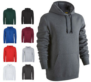 Mens Classic Hoodie Hooded Sweatshirt Size XS to 6XL SPORTS CASUAL WORK LEISURE