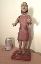 rare antique 1700's hand carved folk art religious santos jesus sculpture statue