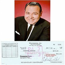 JONATHAN WINTERS ACTOR COMEDIAN  HAND SIGNED BANK CHEQUE  1973  RARE ITEM
