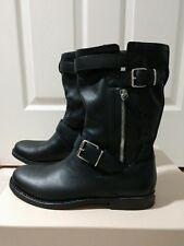 Burberry Grantville Leather Biker Boot Womens Size 37