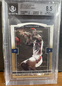 2003-04 Skybox LE Gold Proofs #118 Lebron James Rookie Card 8.5 NM-MT+ Rare