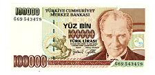Turkey … P-206 … 100,000 Lirosi … L.1970(1997) … *Ch.UNC*
